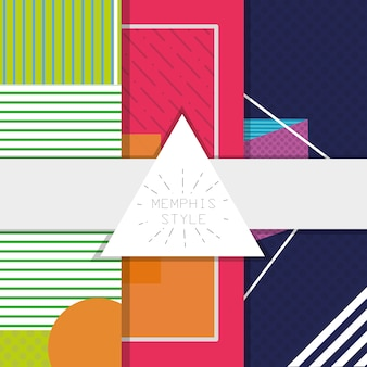 Memphis style of abstract template