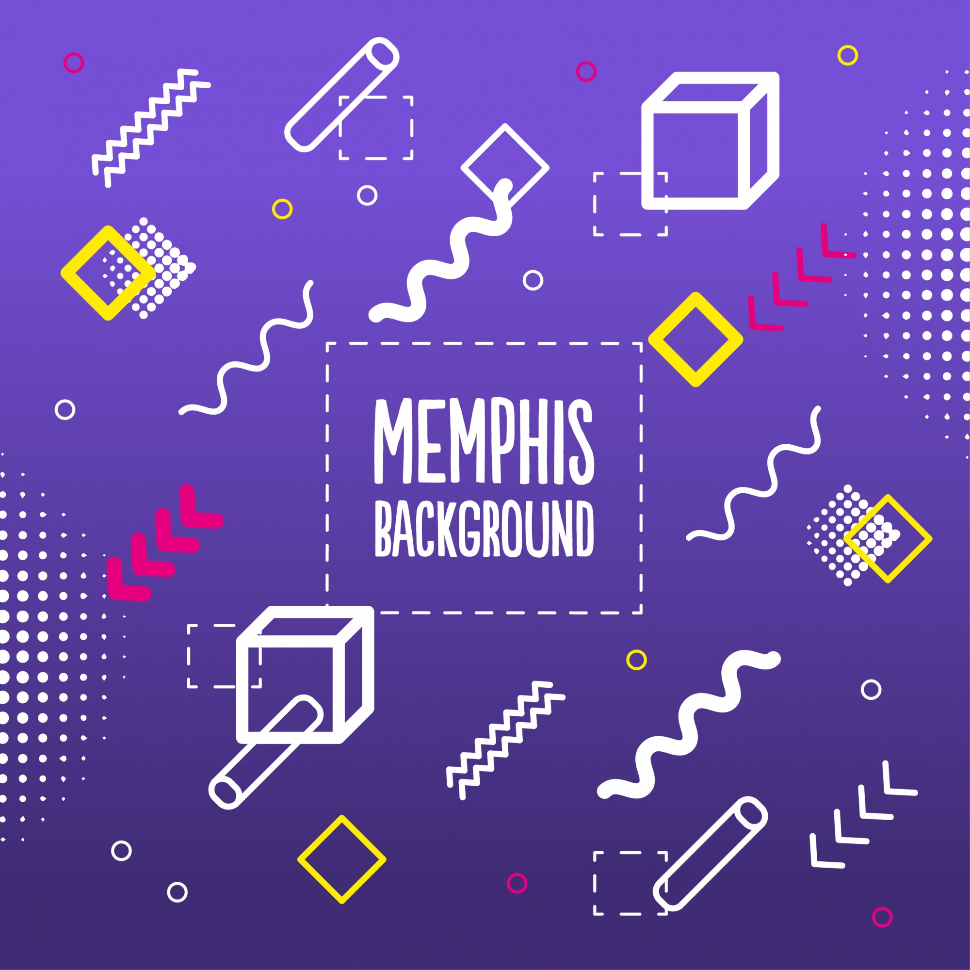 Memphis style background
