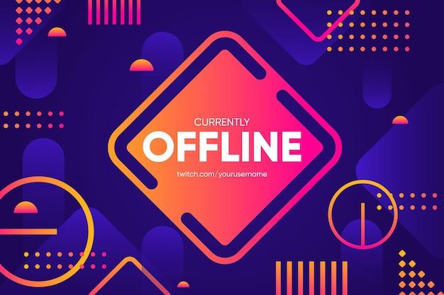 Contrazione offline banner stile memphis