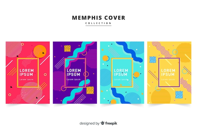 Memphis style brochure pack