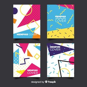 Memphis style brochure set