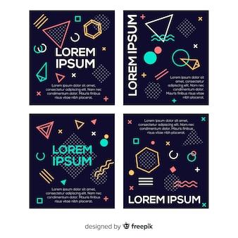 Collezione di modelli di brochure in stile memphis