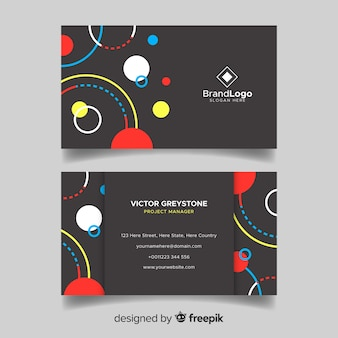 Memphis style business card template
