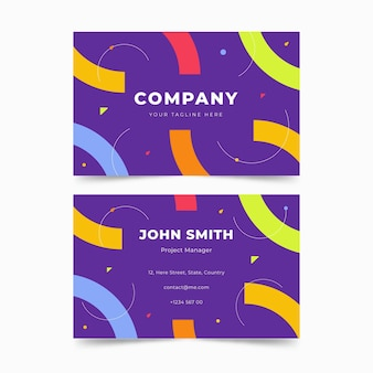 Memphis style business cards
