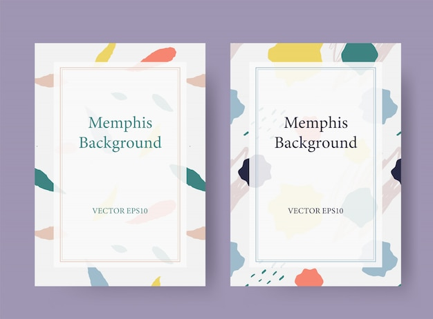 Memphis style card