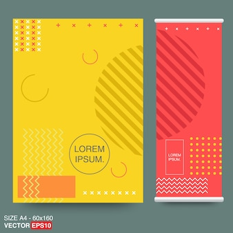 Memphis style cards Design Collection