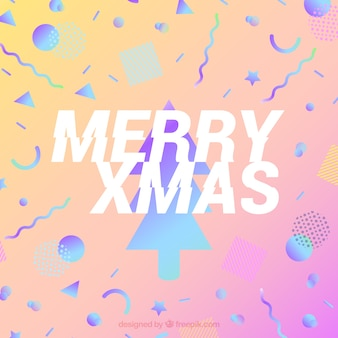 Рождественский фон в стиле мемфиса