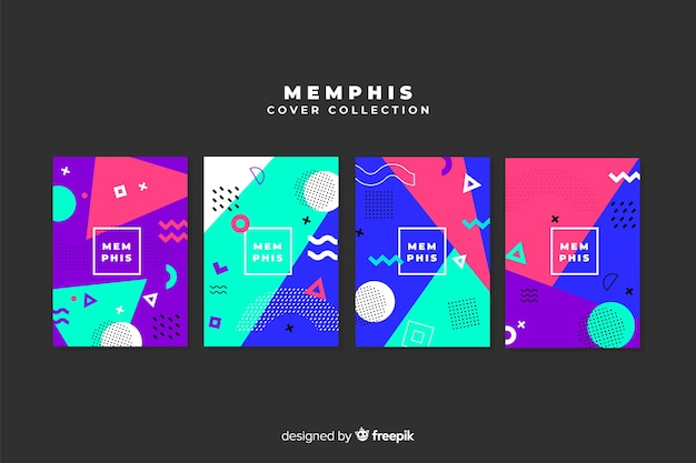 Memphis style cover collection
