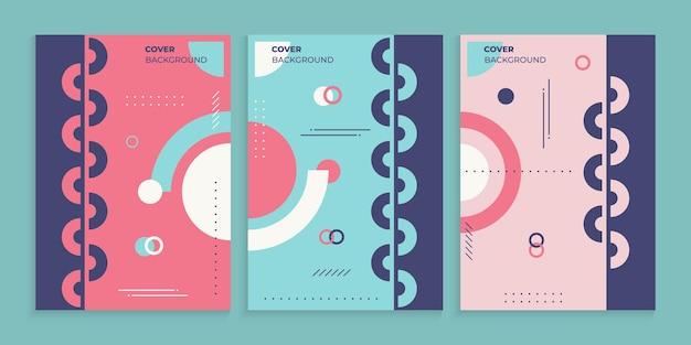 멤피스 스타일의 표지 디자인 컬렉션