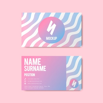 Memphis style creative business card design in bold colors