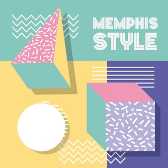 Memphis style pattern
