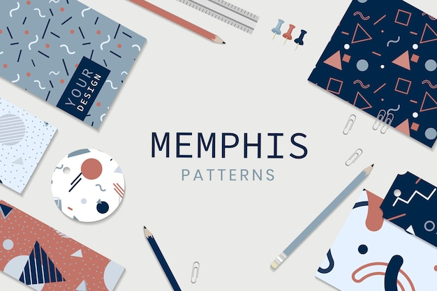 Memphis style stationery