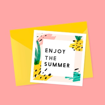 Memphis summer card design vector