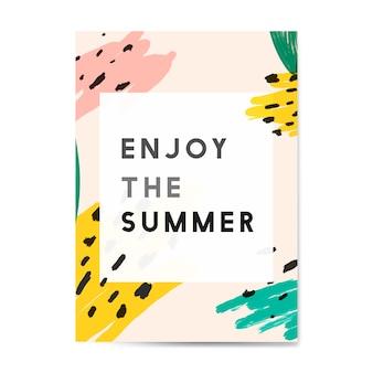 Memphis summer card design vector
