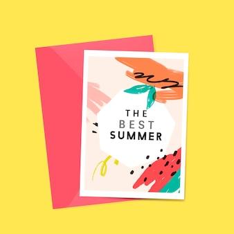 Memphis summer card design vectorstampa