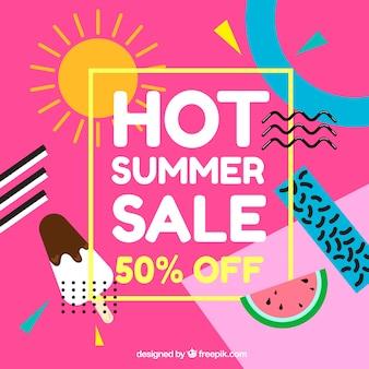 Memphis summer sale background