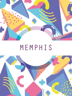 Memphis template and background colorful design
