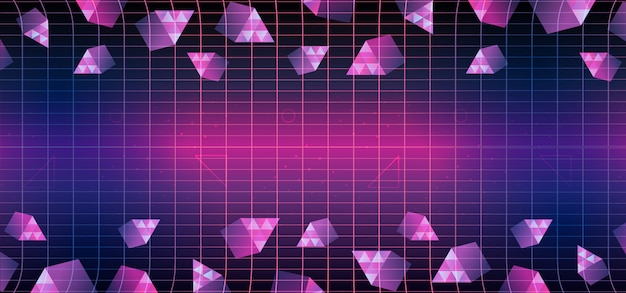 Memphis triangle geometric 80s background