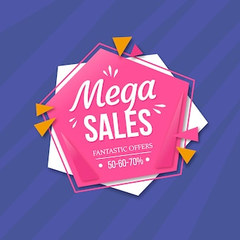 Цветной фон продаж memphis