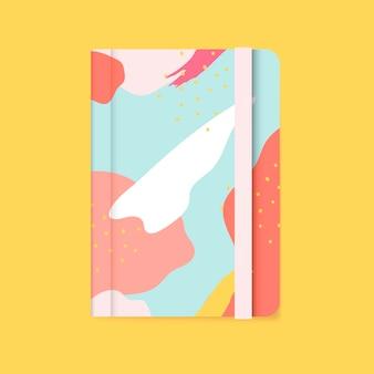Красочный дизайн крышки ноутбука memphis