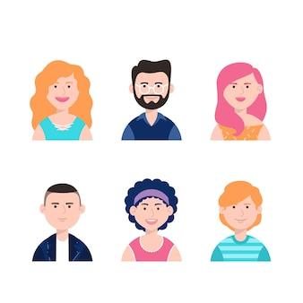 Мужская и женская повседневная одежда аватары