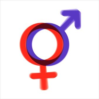 男性と女性のシンボル。男女共同参画のシンボル。女性と男性は常に平等な機会を持つべきです。ベクトルイラスト。平らな。