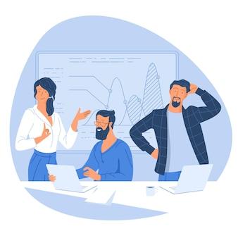 ビジネスミーティングに参加する男性と女性