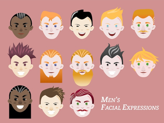 Men facial expression
