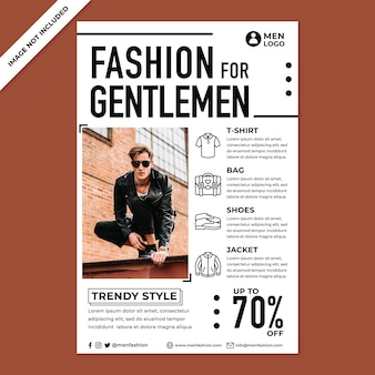 Men fashion poster promotion in flat design style
