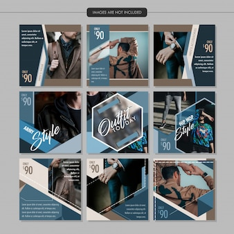 Men fashion social media post template