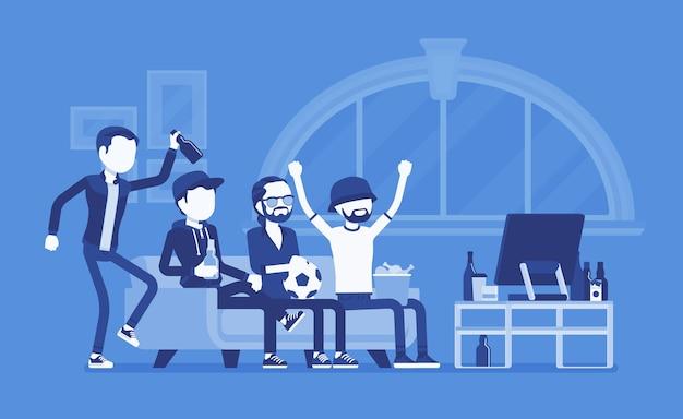 家の集会や友達の集会に集まる男性