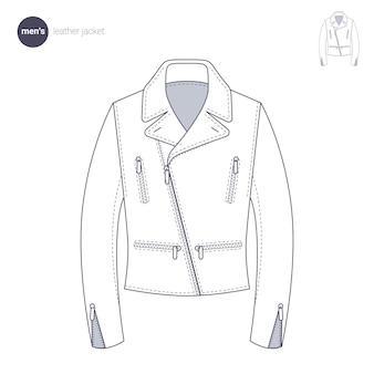 Кожаная куртка мужская. одежда в тонком стиле.