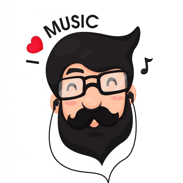 男性はリラックスするために音楽を聴くのが好きです。