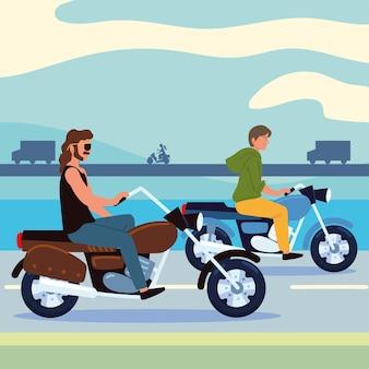 Мужчины на мотоцикле