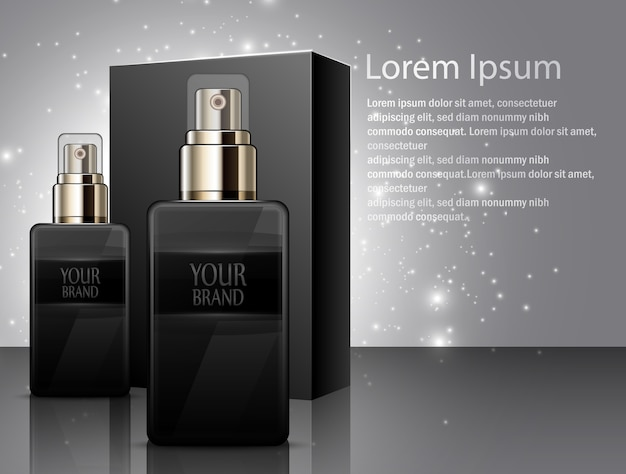Men perfume with package box
