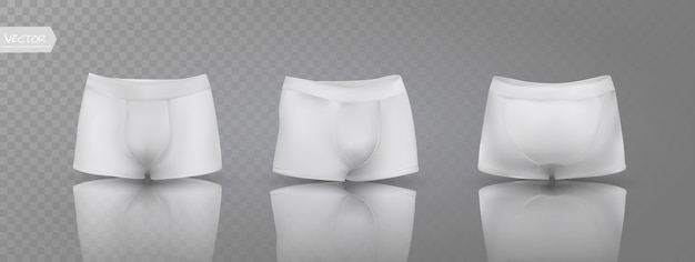Men's boxer briefs in different positions