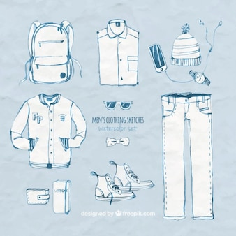 Men's clothing sketches