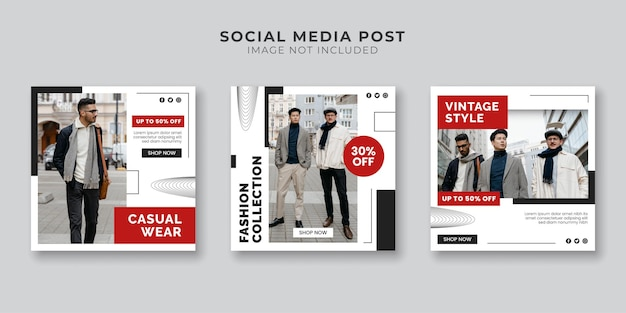Men's fashion collection social media and instagram post template