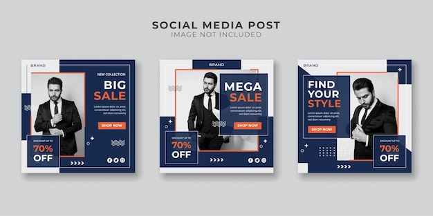 Men's fashion sale social media and instagram post template