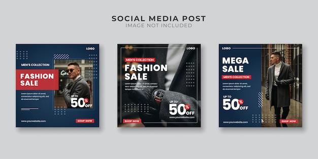 Men's fashion sale social media post template