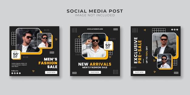 Men's fashion store social media post template