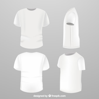 Men's t-shirt in different views with realistic style