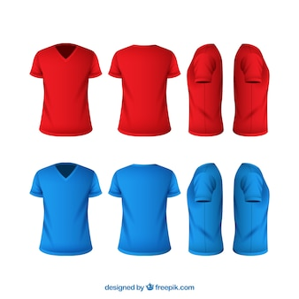 fc2903b8 Men's t-shirt in different views with realistic style