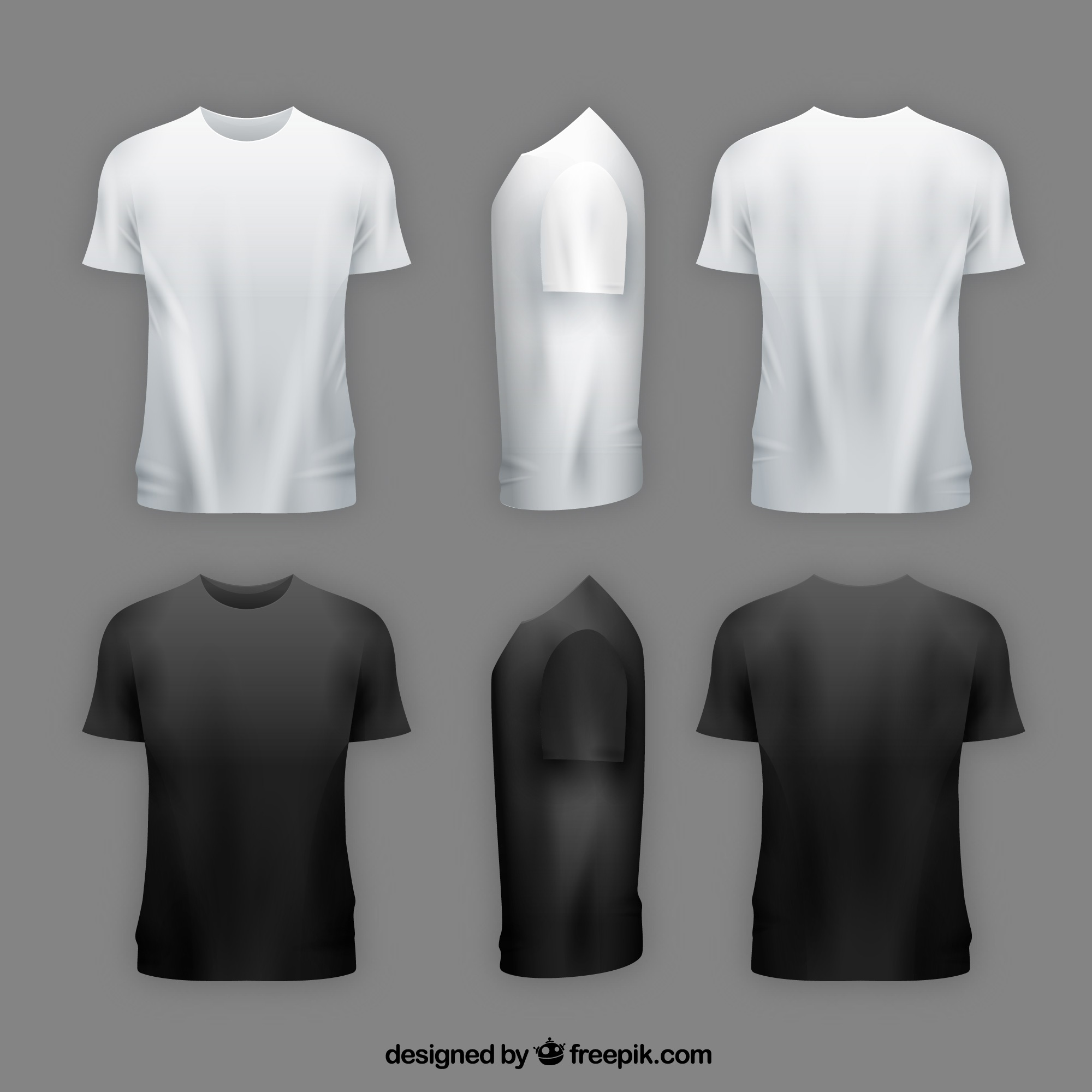 White V Neck T Shirt Mens