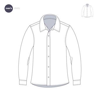 Мужская рубашка. одежда в тонком стиле.