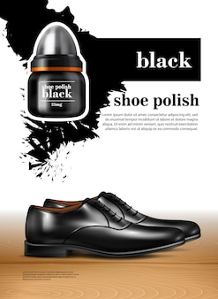 Men shoes realistic set