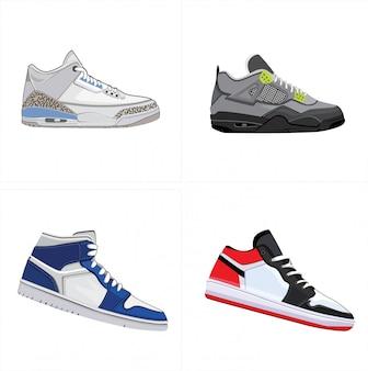 Men shoes set design