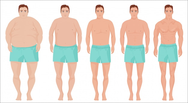Men slimming stage progress