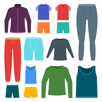 Men sports clothing set   illustration  on white background