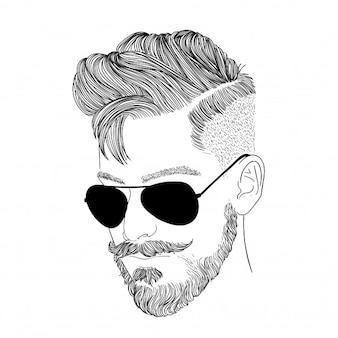 Men wear glasses in black